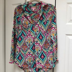 Lilly Pulitzer Silk Top- Size Small